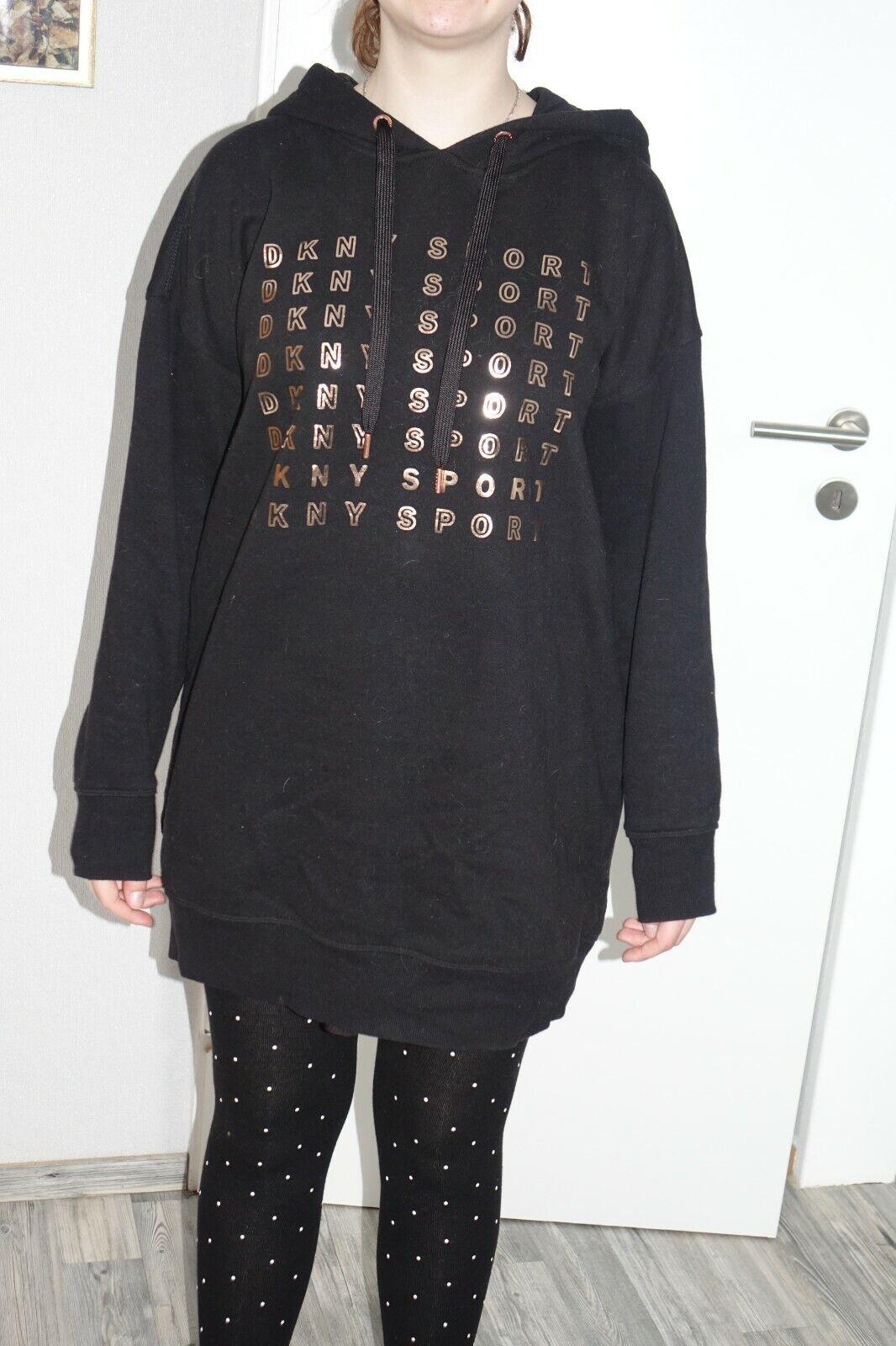 DKNY Kapuzenpullover Longpullover Hoodie Pullover schwarz Gr. S