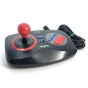 Sega-Genesis-QUICKSHOT-Arcade-Fighter-JOY-STICK-Model-QS-162-TESTED-amp-Cleaned