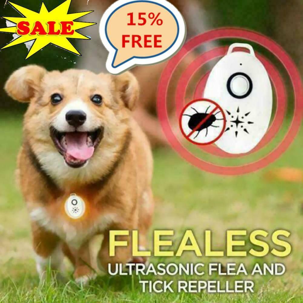 Portable Flealess Ultrasonic Flea Tick Repeller Lightweight Pest AnimalU K