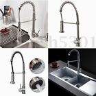 Brushed Nickel Kitchen Faucet Pull Out Sprayer Swivel Spout Sink Mixer Taps
