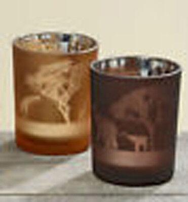Boltze Windlicht Global H 8 cm Giraffe Elefant Teelicht Afrika romantisch braun