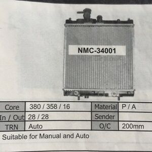 Nissan-Micra-KL11-3-5-Door-05-1995-to-1998-Auto-amp-Manual-Radiator