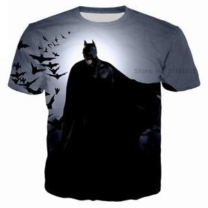 c0154372752 Women Men Batman The Dark Knight Print Casual 3D T-Shirt Short ...
