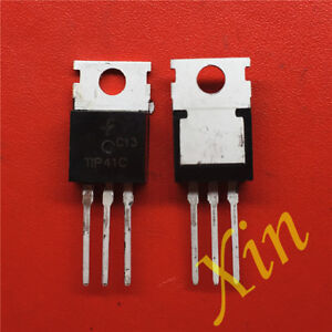 50PCS-TIP41C-NPN-6A-100V-TO-220-POWER-MOSFET-TRANSISTOR-TO-220-TIP41