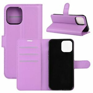 Cover For Apple IPHONE 12/12 Pro Case Cover Wallet Purple
