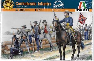 Italeri American Civil War Confederate Infantry in 1/72  6014 ST