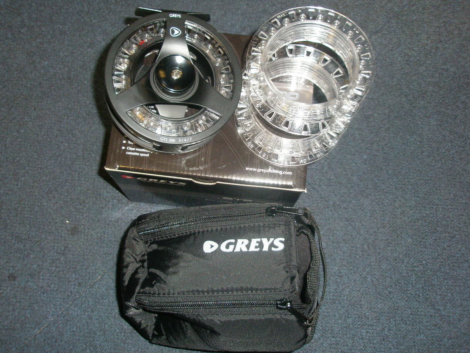 graus GTS500  7-9 Fliegenspule + 2 Ersatz Spulen Angelzubehör
