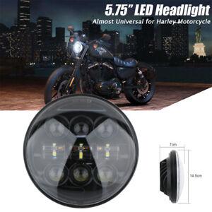 5-3-4-034-5-75-Pouce-LED-Phare-Feux-Avant-Hi-Lo-Moto-Lampe-Projecteur-Headlight