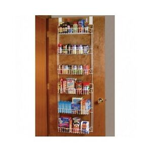 Pantry storage rack over the door kitchen organizer hanging bathroom image is loading pantry storage rack over the door kitchen organizer workwithnaturefo