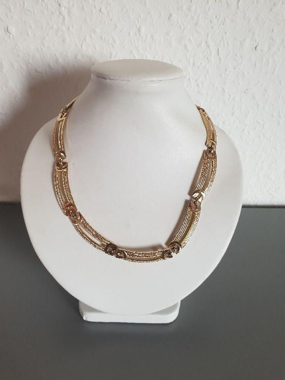 Halskette Punze Grossé goldfarben lange Glieder 27,20 g tolles Muster CP5372