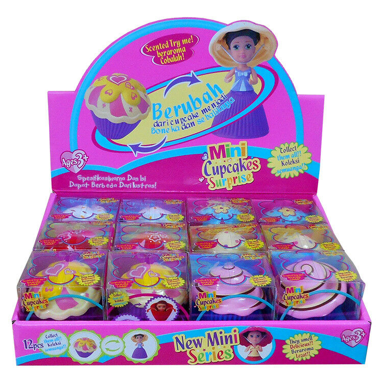 Box of 12 x Mini Cupcake Surprise Doll's Collection Party Christmas