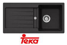 Einbauspüle Küchenspüle Teka Kea 45 B-TG Spüle Tegranit Anthrazit mit Siphon 86