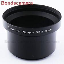 58mm 58 DC Lens Filter Adapter Ring for Olympus XZ-1 XZ-2 XZ1 XZ2 camera black