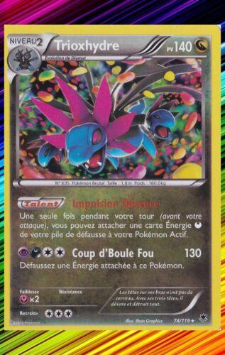XY4:Vigueur Spectrale 74//119 Carte Pokemon Neuve Française Trioxhydre Holo