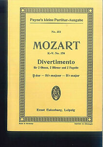 Mozart-Divertimento-B-dur-KV-270-Taschenpartitur
