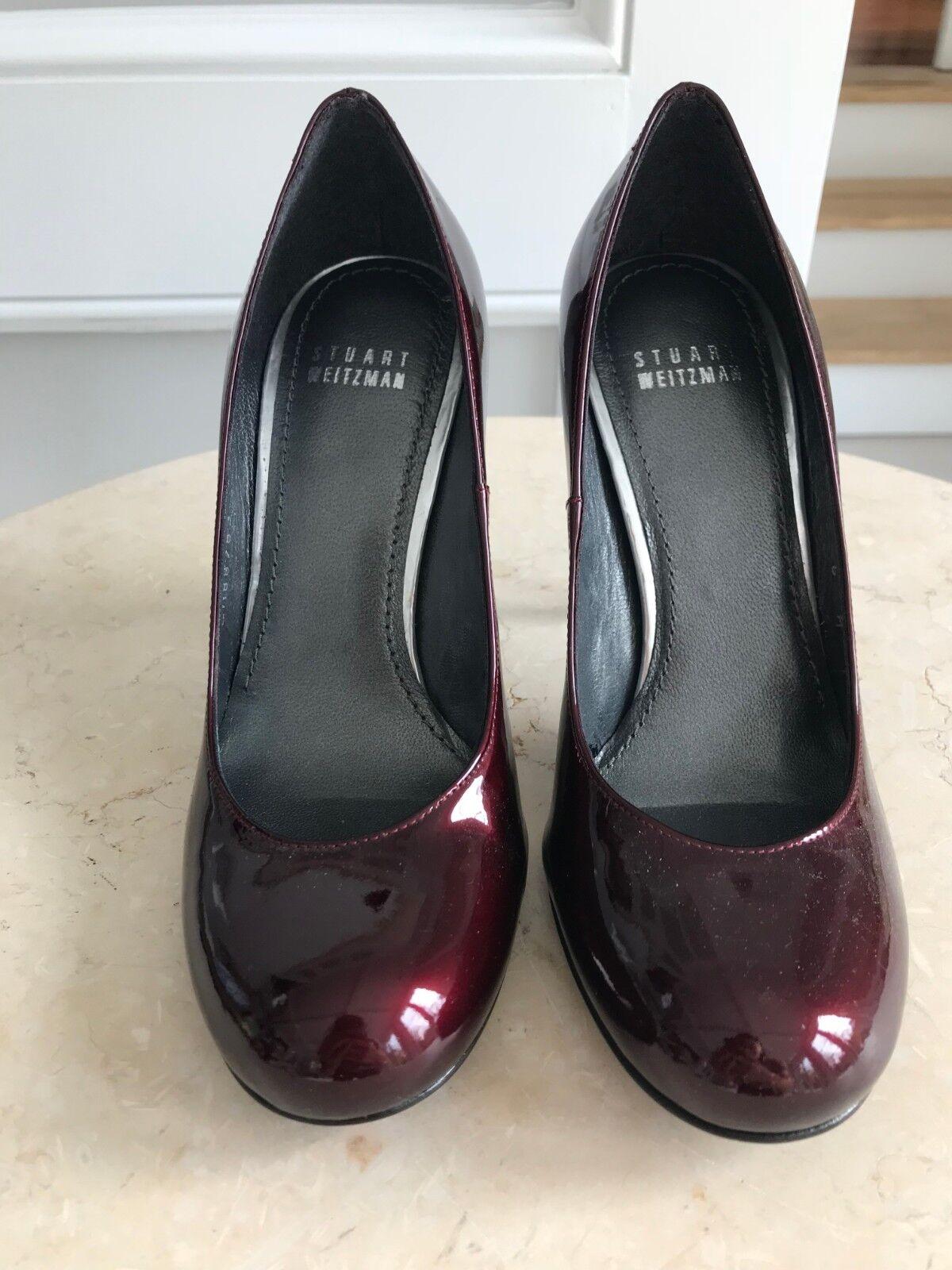 spedizione veloce in tutto il mondo Stuart Weitzman Patent Leather Burgundy Pumps scarpe Round Toe Heels Heels Heels Dimensione 6M  ordinare on-line