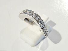 Bijou argent 925  bague  anneau élipse oxydes zirconium taille 56  ring