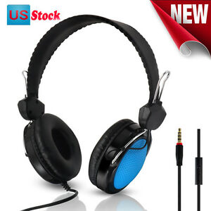 Headset Stereo T-420 Mic Control Wired Stereo HiFi Music Computer Headset New