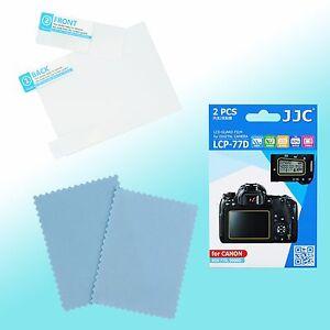 Canon Eos 77D 9000D protector de pantalla LCD trasera superior resistencia al rayado JJC LCP-77D