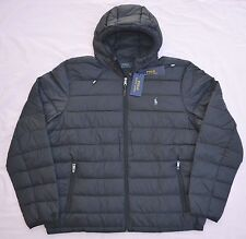 New XXL 2XL POLO RALPH LAUREN Men packable down jacket puffer black bubble coat