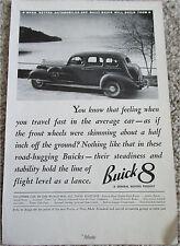 1936 Buick 4 dr sedan car ad