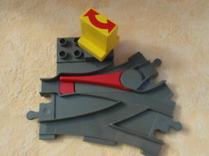 Lego-Duplo-Chemin-de-fer-doux-ancien-gris
