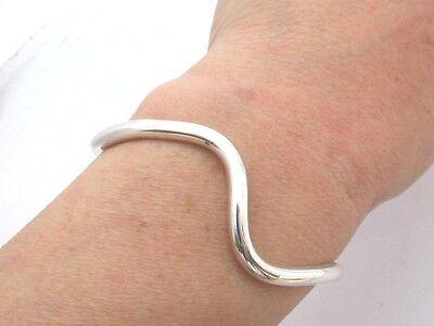 Sterling Silver Wave Cuff  Bangle