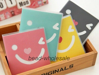 New Smile Print Rubber Sleeve Notebook Lovely Diary Book Mood Note Book 4 Colors