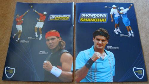 X2 2007 Showdown in CHINA SHANGHAI Tennis Masters Cup FEDERER Nadal Photo Folder