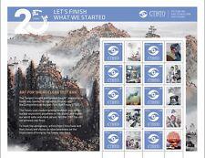 UNO WIEN - 2016 GRUSSMARKEN BOGEN CTBTO 937 - KERNWAFFEN TESTSTOP - NUCLEAR TEST
