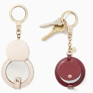 8f94cd3061a Kate Spade New York Women s Circle Mirror Leather Keychain