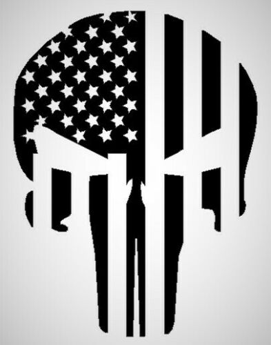 Punisher Skull Flag Pro Gun Concervative Right Wing Trump Support Decal Sticker