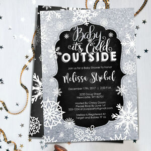 winter baby shower invitations baby it s cold outside winter