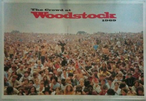 The Crowd at WOODSTOCK 1969 ICONIC Shelly Rusten Full Color 22 x 32 POSTER PANO!