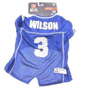 Details about Russell Wilson Seattle Seahawks #3 Medium Licensed NFLPA Dog Jersey Blue