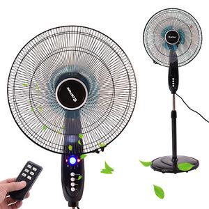 16 Adjustable Oscillating Pedestal Fan Stand Floor 3