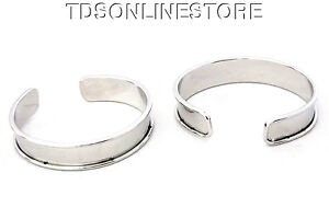 Brass Concaved Bracelet Cuff Blanks 1//2 inch Pkg Of 2