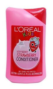 2-X-L-039-OREAL-KIDS-VERY-BERRY-STRAWBERRY-CONDITIONER-250ml-NO-TEARS-NO-KNOTS