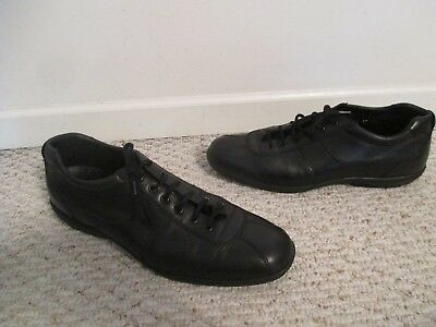 Prada Shoes Black Leather Sneakers Size