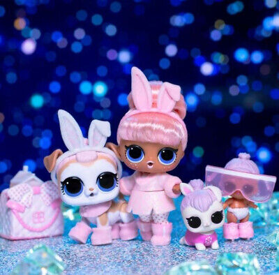 NEW UNUSED LOL Surprise Doll Hair goals Snow Bunny /& Lil Snow Bunny #hairgoals