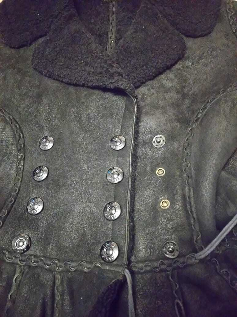 Alaia black  suede-Leather Shearling Princess Ple… - image 7