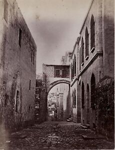 Gerusalemme Israele Palestina Foto Albumina Stampa Verso 1890 Formato Piccolo