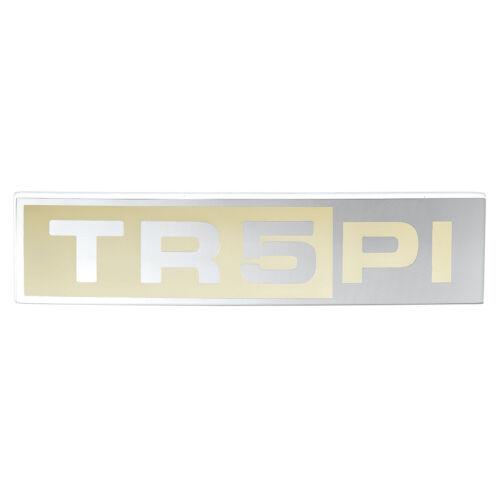 TRIUMPH TR5 Arranque Tapa Insignia TR5 Pi logotipo Crema//Plata 1967-1968 Nuevo Parte Nº 622261