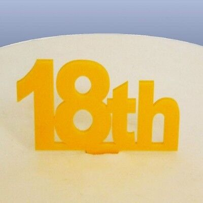 18th Compleanno Cake Topper-giallo- Vendita Calda Di Prodotti