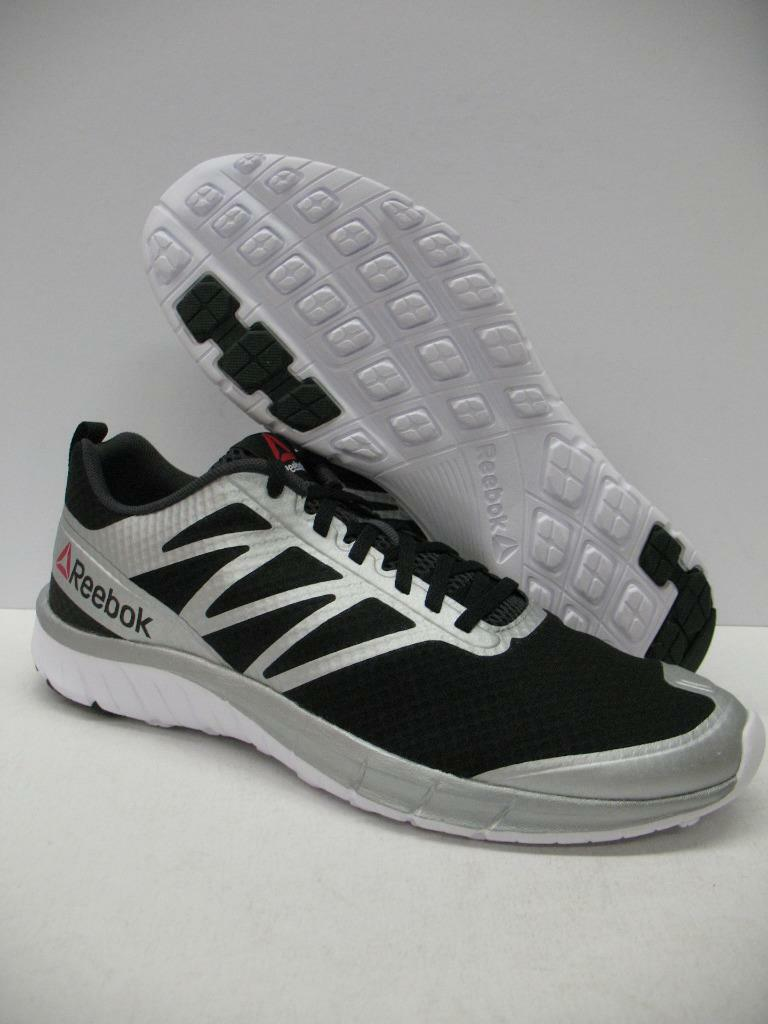 New Reebok V72066 So-Quick Running Training Shoes Sneakers Black Silver Mens 11