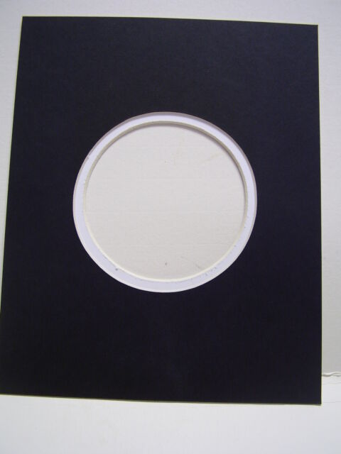 Picture Frame Mat Round Circle Cream Black 8x10 For 4x6 Calligraphy