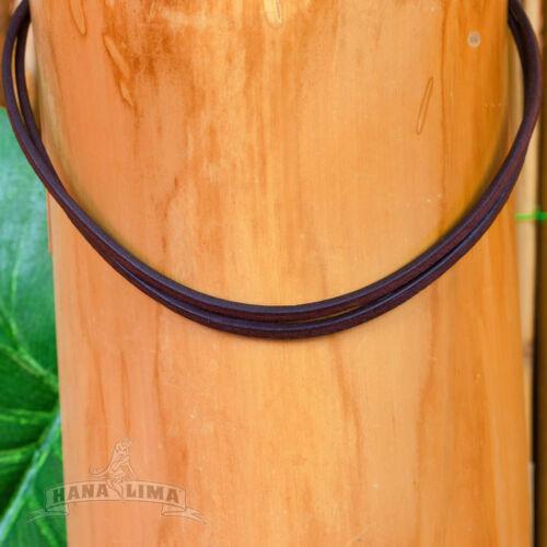Collana IN Pelle Cinturino Braun Regolabile da Surfista Goa