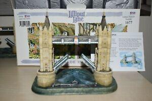 Very-rare-Lilliput-Lane-JUBILEE-TOWER-BRIDGE-with-original-box-and-deeds