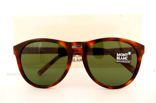 Brand New MONT BLANC Sunglasses MB 506 506S 52N Havana//Solid Green Women