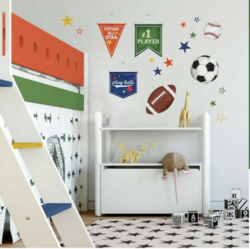 b37a7de5f717 Roommates RMK3710SCS Sports Balls Peel   Stick Wall Decals for sale online